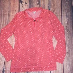 Talbots 1/4 zip front slip pocket shirt